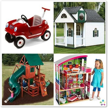 gifts for kids - wood swing sets